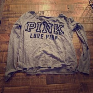 Pink Victoria's Secret night shirt.